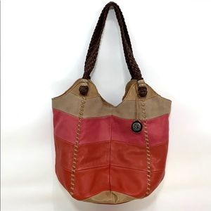 The Sak boho hobo leather Indio Tote